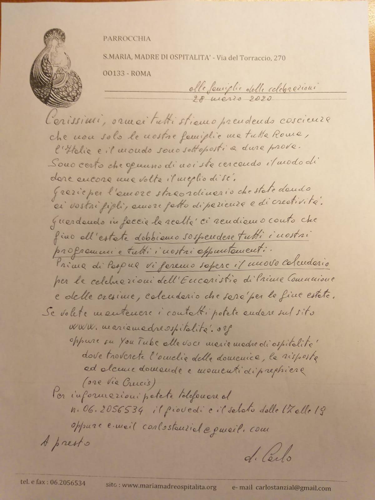 Lettera di Don Carlo